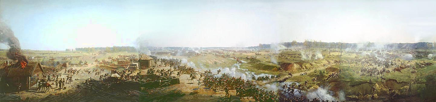 Battle of Borodino panorama fragment 1