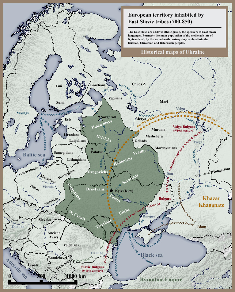East Slavic tribes peoples 8th 9th century
