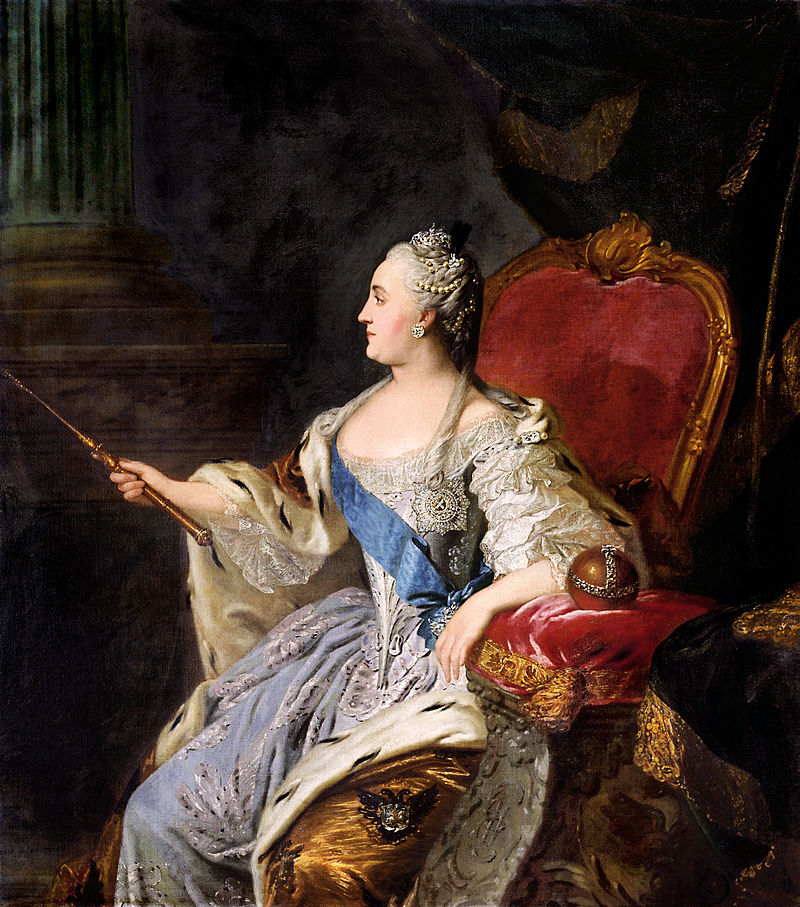 Profile portrait of Catherine II by Fedor Rokotov 1763 Tretyakov gallery